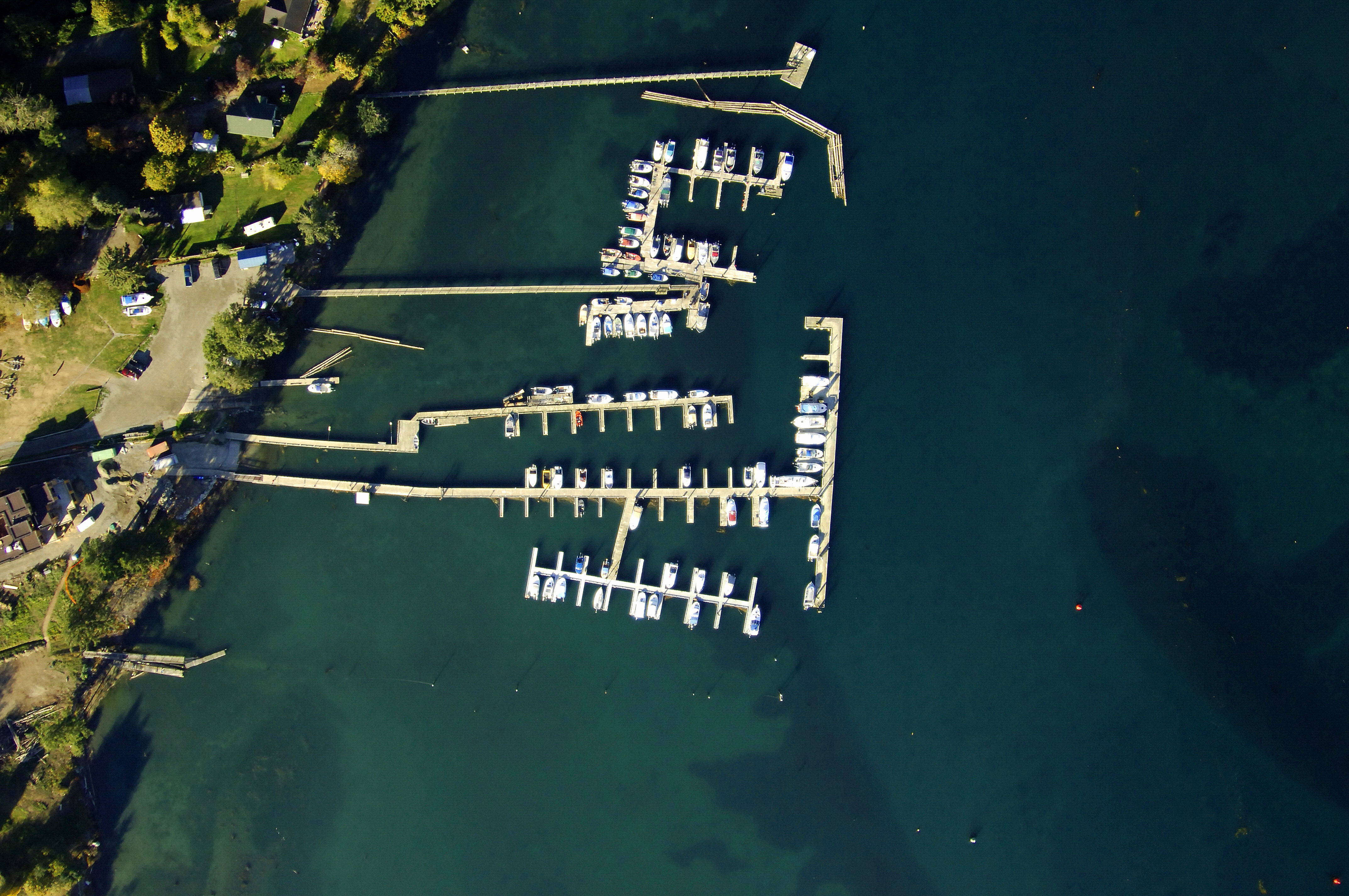 Aerial View Of Sooke Harbour Resort And Marina